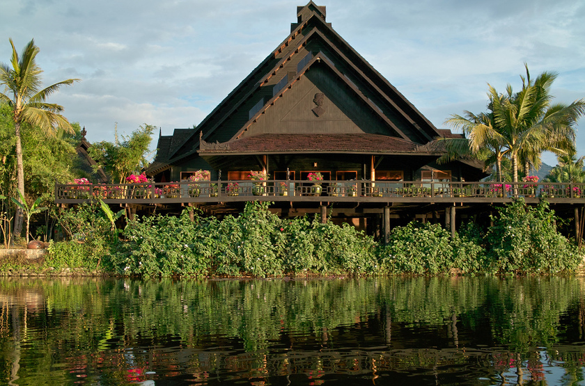 Inle Princess Resort, Lac Inle, Birmanie, restaurant