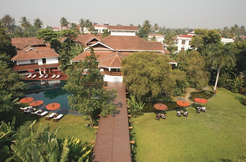 Belmond Governor's Residence, Yangon, Birmanie, vue aérienne