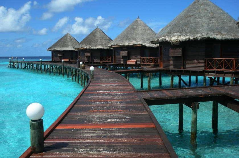 Thulhagiri Island Resort & Spa, Maldives, villa sur pilotis
