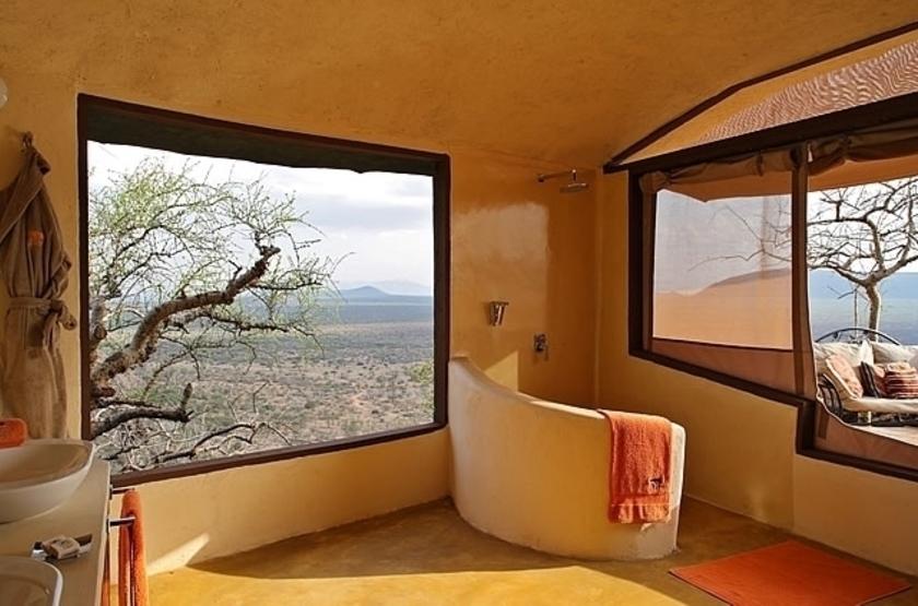 Saruni Samburu Camp, Samburu Kalama, Kenya, salle de bains