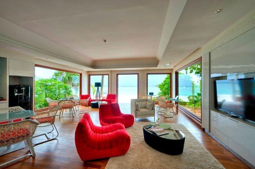 Niyama - Olhuveli et d'Embedhufushi, Maldives, salon villa