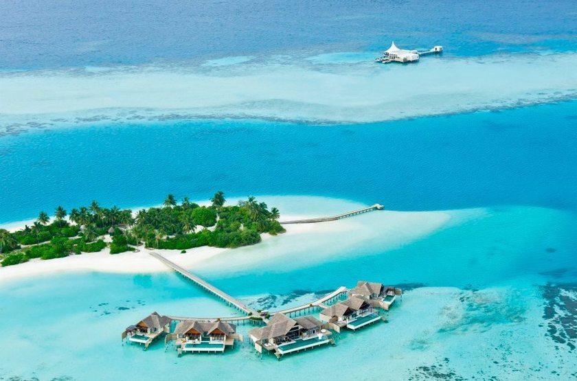 Niyama - Olhuveli et d'Embedhufushi, Maldives, vue aérienne
