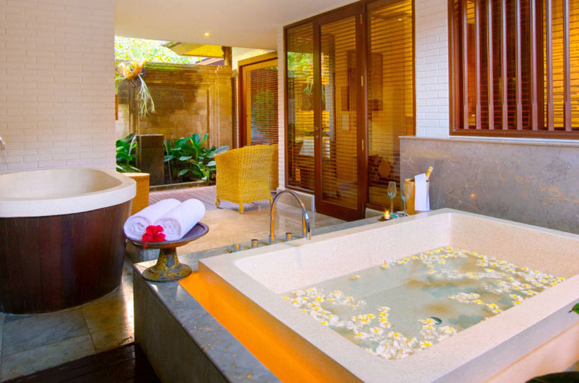 The Chedi Club, Ubud, Bali, Indonésie, salle de bains villa