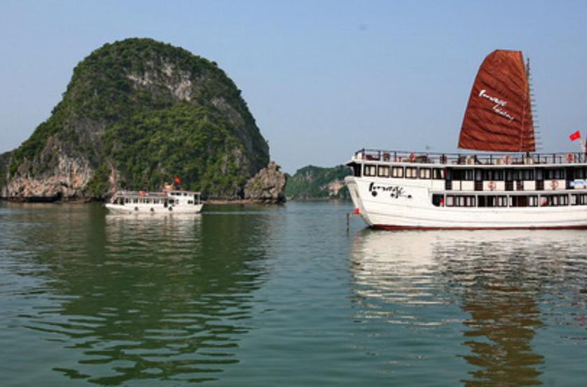 Jonque Image, Baie d'Halong, Vietnam, jonque