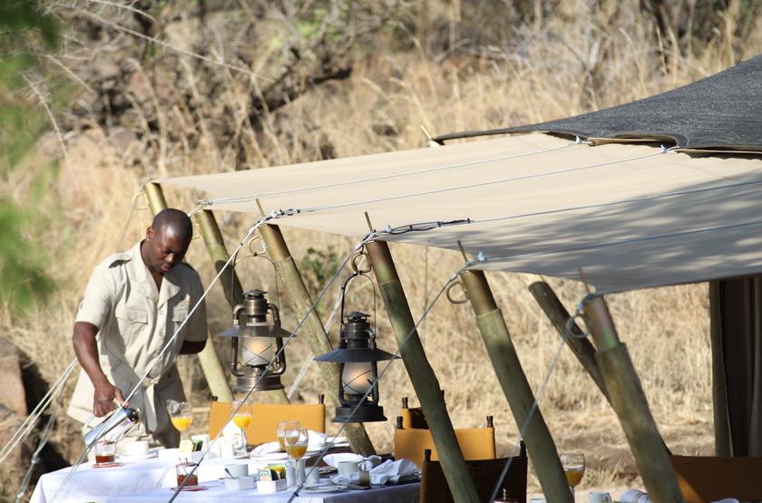 Pioneer Camp Serengeti, Tanzanie, restaurant