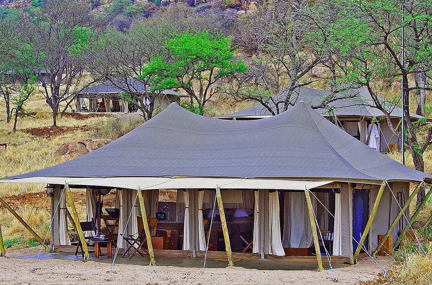 Pioneer Camp Serengeti, Tanzanie, extérieur tente