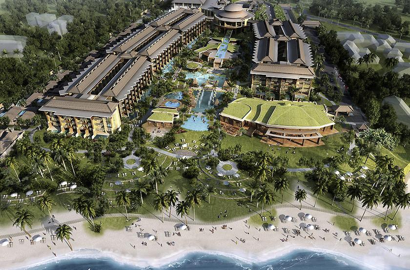 Sofitel Nusa Dua Beach Resort, Bali, Indonésie, vue d'ensemble