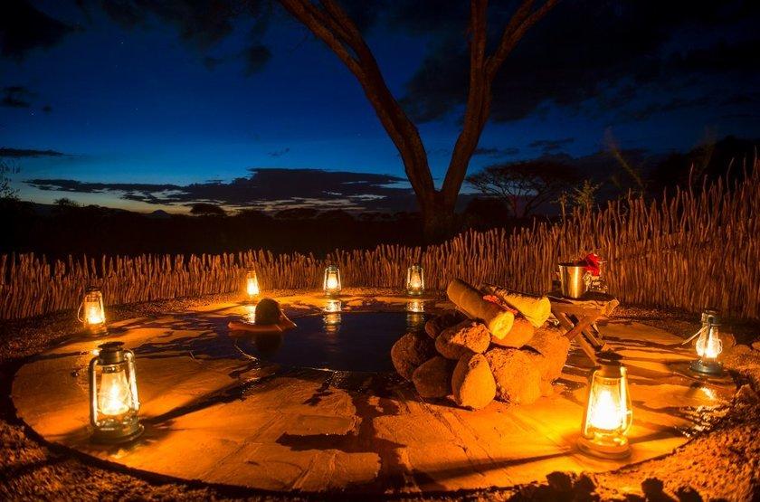 Tawi Lodge, Amboseli, Kenya, détente jacuzzi
