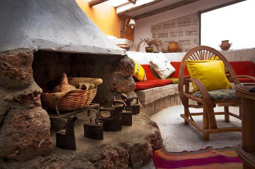 Luna Salada, Uyuni, Bolivie, cheminée