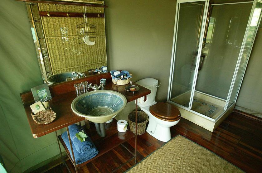 Makalolo Camp, Park Hwange, Zimbabwe, salle de bains