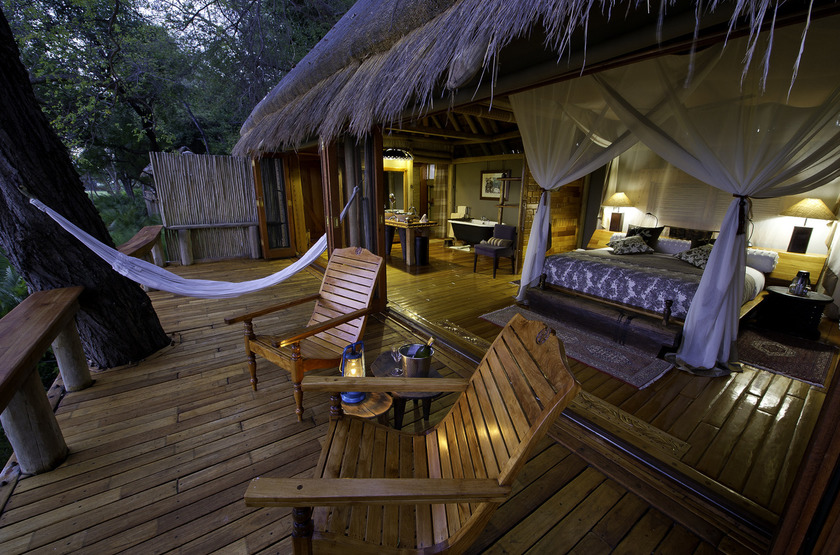 Jao Camp, concession de Jao, Botswana, terrasse