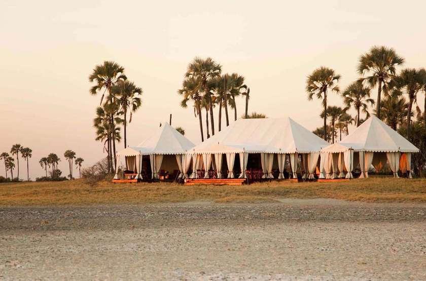 San Camp,  désert du Kalahari, Botswana, extérieur