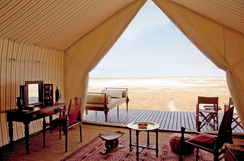 San Camp,  désert du Kalahari, Botswana, intérieur
