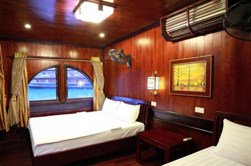 Jonque privée Petit Victory Star, Baie d'Halong, Vietnam, cabine