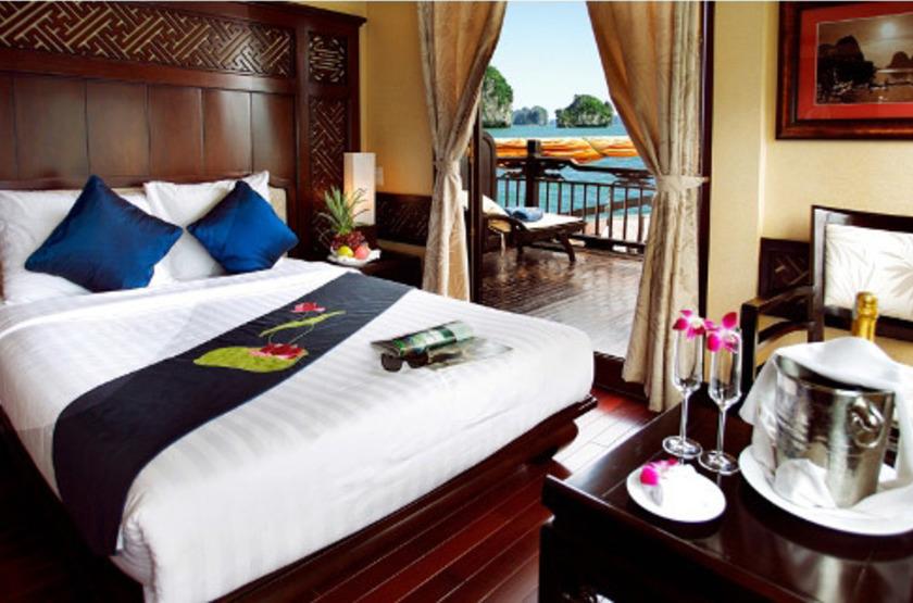 Jonque Paradise Privilège, Baie d'Halong, Vietnam, cabine