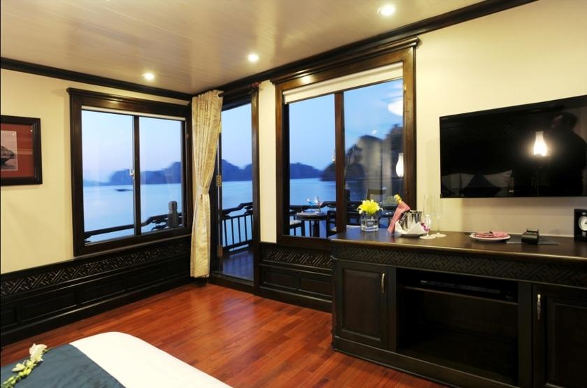 Jonque Paradise Privilège, Baie d'Halong, Vietnam, suite avec balcon
