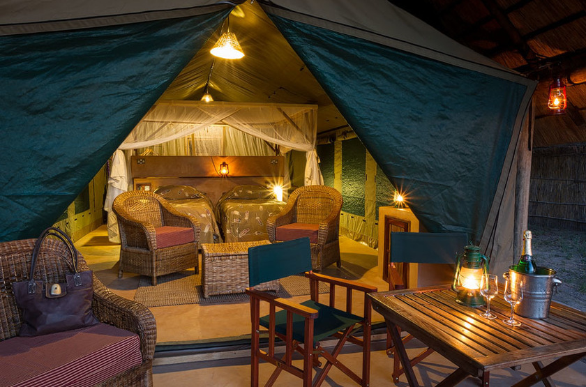 Flatdogs camp   luxury safari tente slideshow
