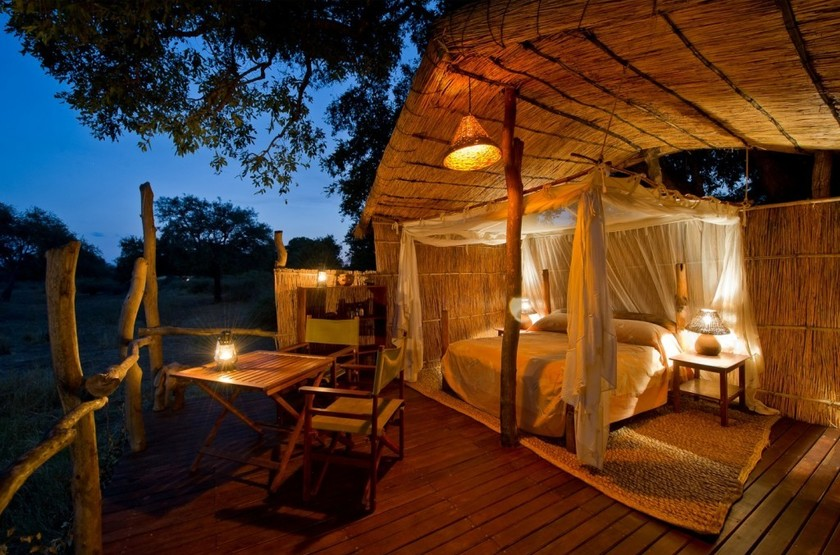 Flagdogs Camp, South Luangwa, Zambie, terrasse