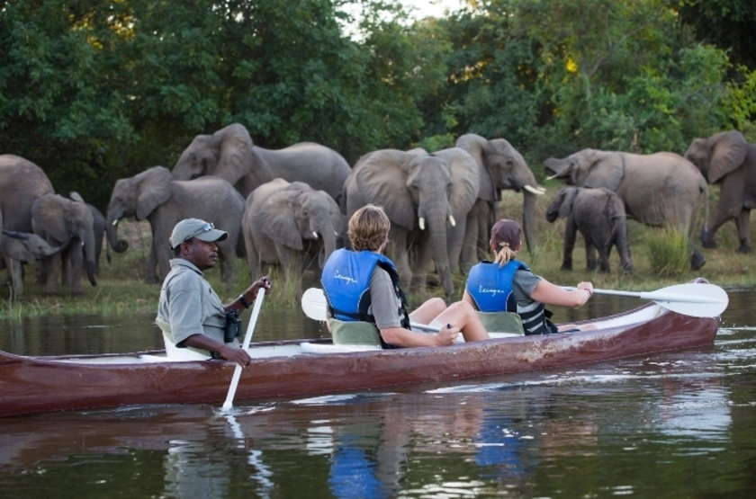 Kasaka River Lodge, Lower Zambezi, Zambie, safari en canoë