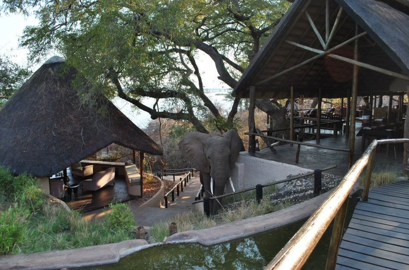 Kasaka River Lodge, Lower Zambezi, Zambie, extérieur