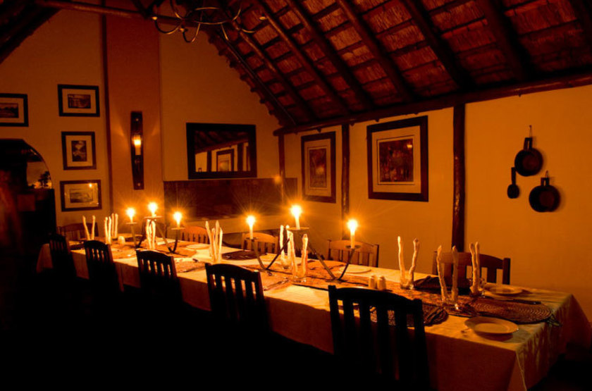 Kasaka River Lodge, Lower Zambezi, Zambie, dinning room