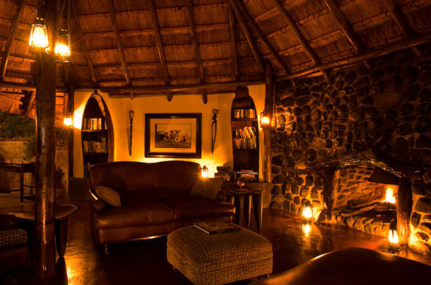 Kasaka River Lodge, Lower Zambezi, Zambie, salon