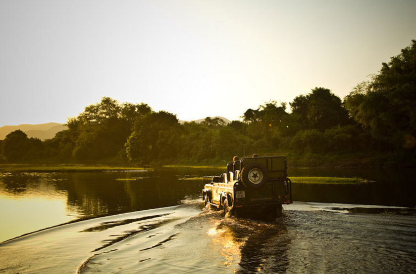 Kasaka River Lodge, Lower Zambezi, Zambie, safari en 4x4