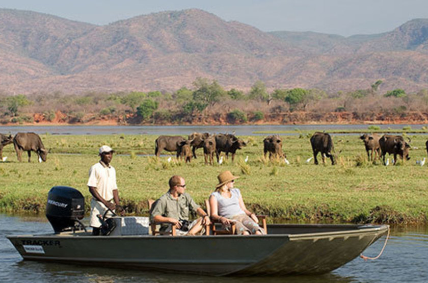 Kasaka River Lodge, Lower Zambezi, Zambie, safari en bateau