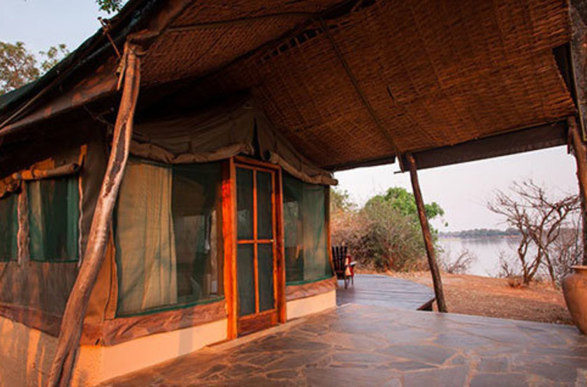 Kasaka River Lodge, Lower Zambezi, Zambie, tente
