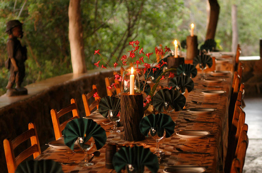 Mvuu Camp, parc de Liwonde, restaurant