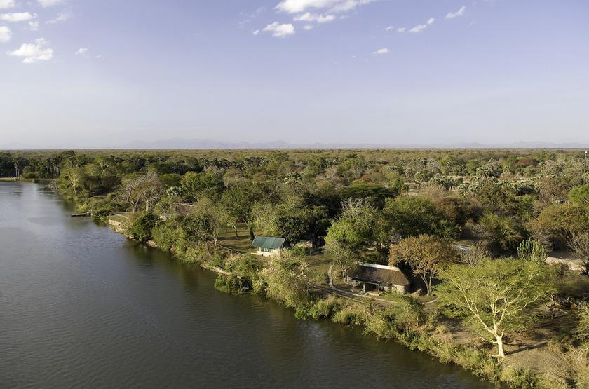 Mvuu Camp, parc de Liwonde, vue aérienne