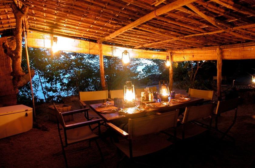 Mumbo Island Camp, Malawi, dîner