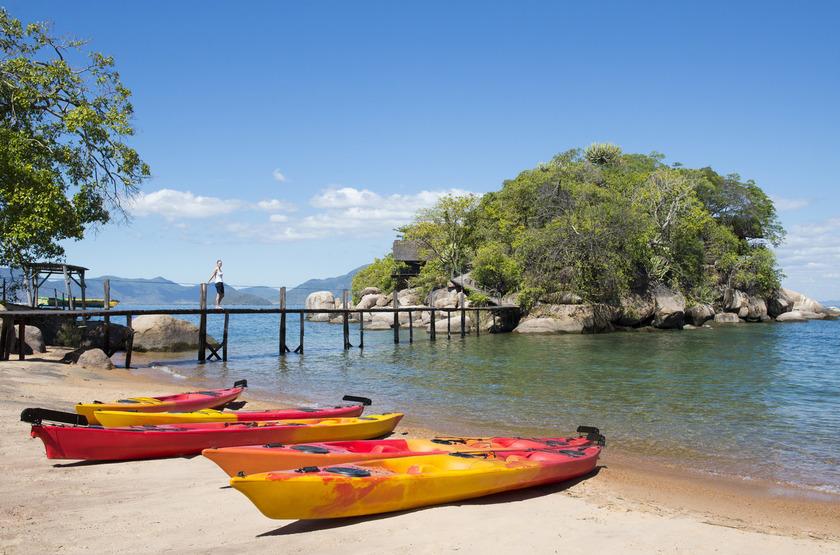 Mumbo Island Camp, Malawi, kayak