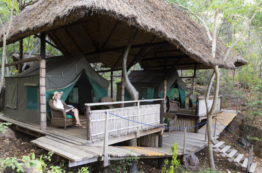 Mumbo Island Camp, Malawi, chalet