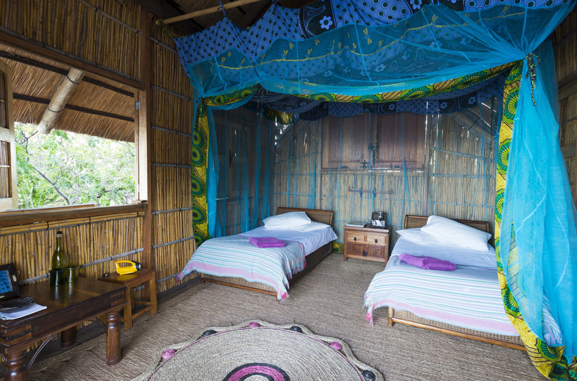 Mumbo Island Camp, Malawi, chambre
