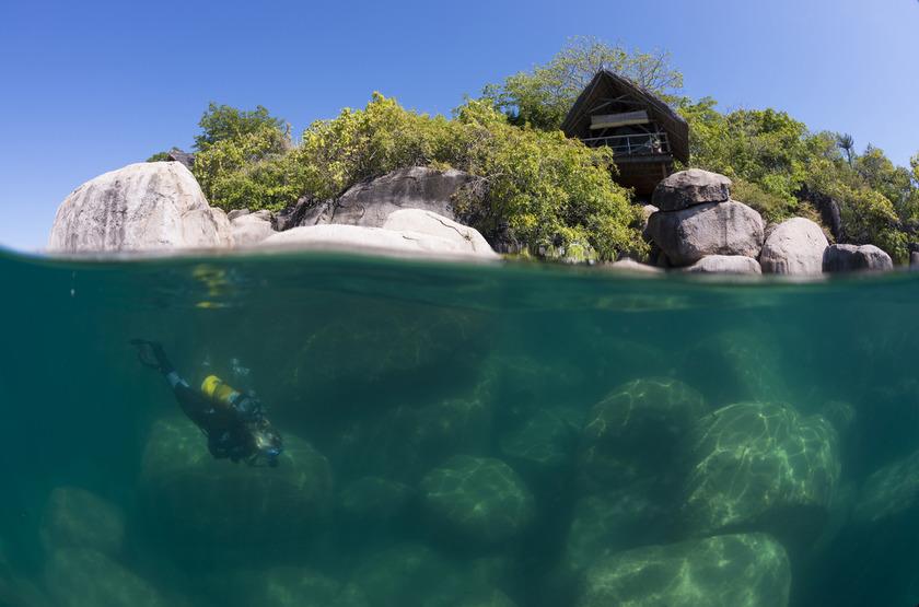 Mumbo Island Camp, Malawi, plongée