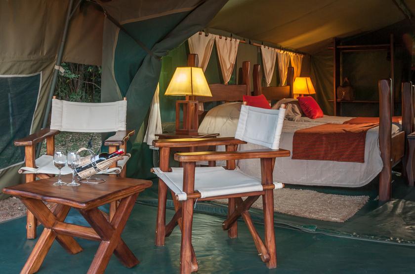 Entim Mara Camp, Masai Mara, Kenya, terrasse