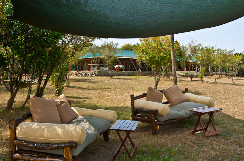 Entim Mara Camp, Masai Mara, Kenya, salon extérieur
