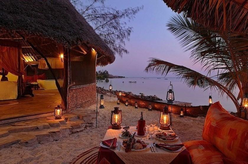 The Funzi Keys Island, Kenya, dîner romantique