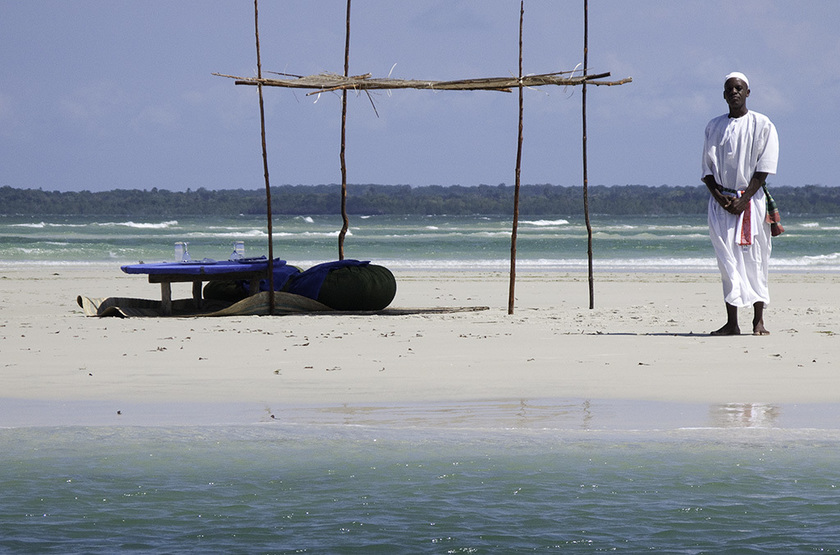 The Funzi Keys Island, Kenya, plage