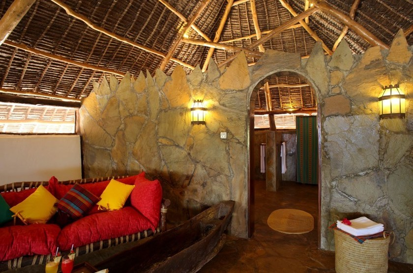 The Funzi Keys Island, Kenya, salle de bains