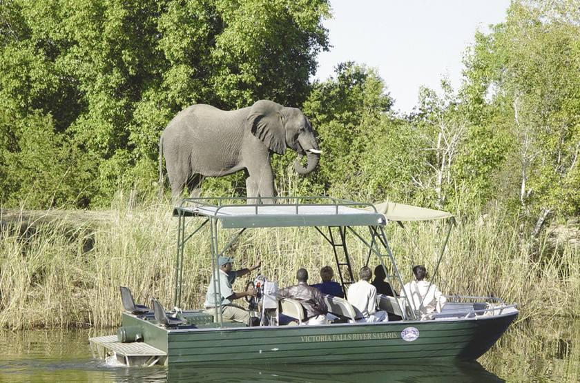 Zambezi Sun, Livingstone, Zambie, safari en bateau