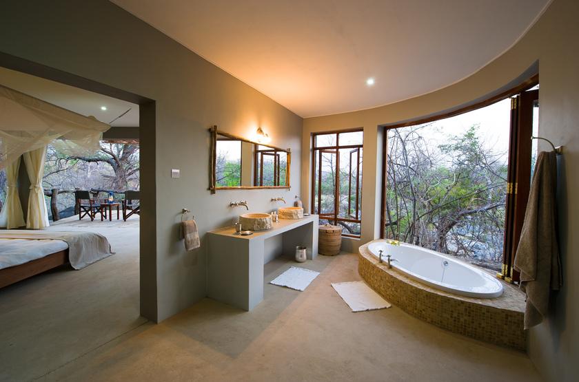 Mkulumadzi Lodge, Reserve de Majete, Malawi, salle de bains
