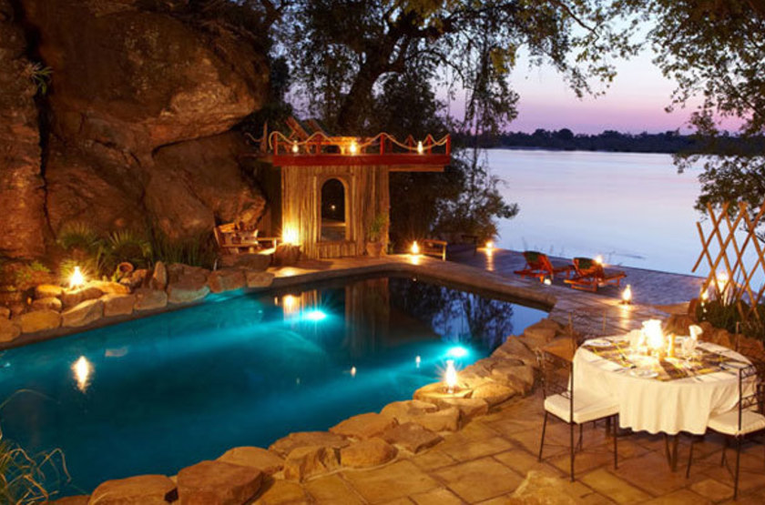 Norman Carr Cottage, Lac Malawi, piscine
