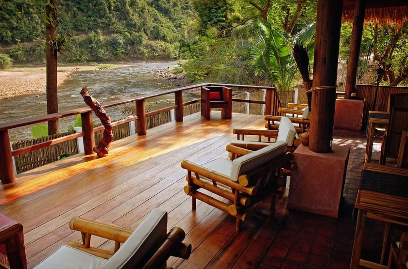 Muang La Resort, Laos, terrasse