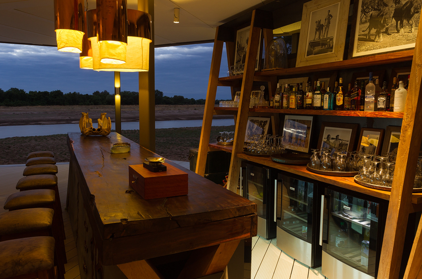 Chinzombo, South Luangwa, Zambie, bar