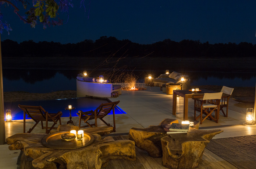 Chinzombo, South Luangwa, Zambie, terrasse