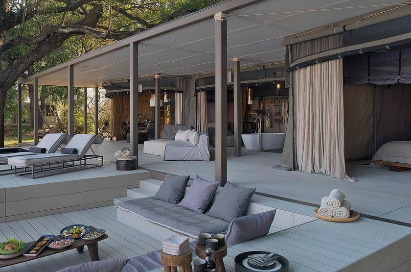 Chinzombo, South Luangwa, Zambie, lounge