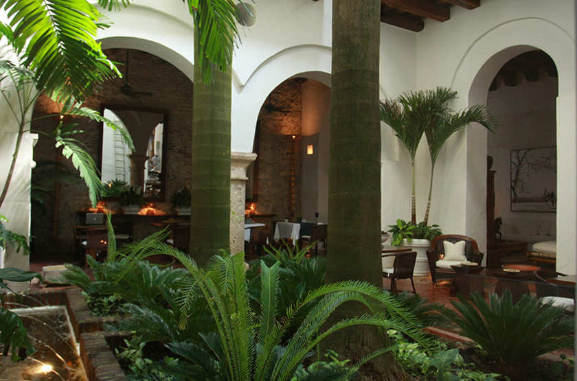 Hotel Agua, Carthagéne, Colombie, patio