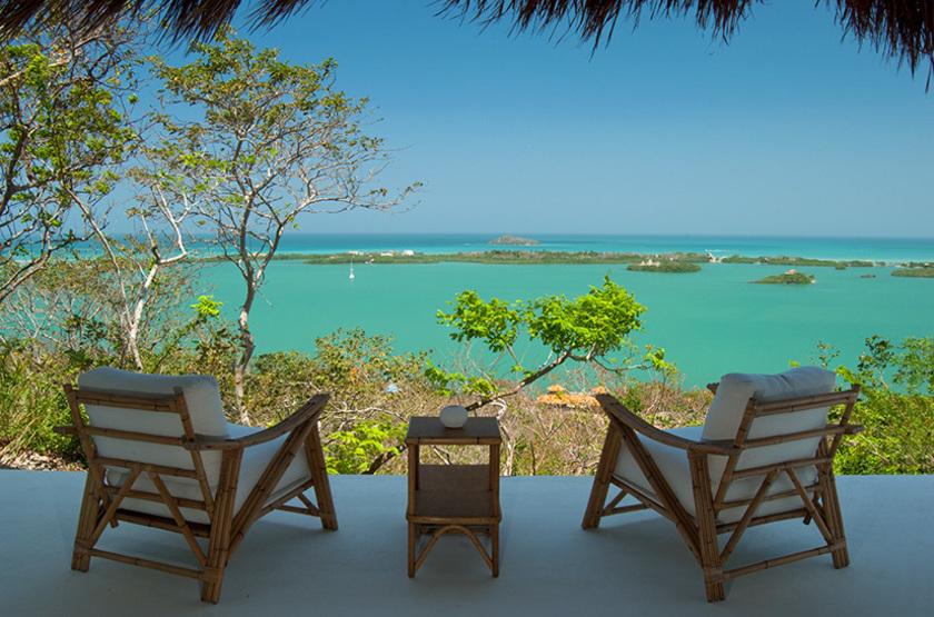 Agua Baru Island, Ile de Baru, Colombie, terrasse